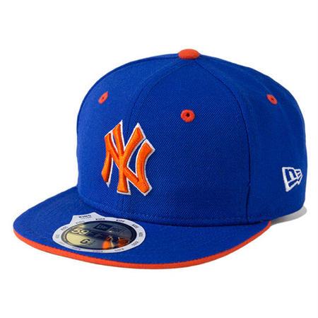 【 NEW ERA / ニューエラ 】KIDS 59FIFTY ニューヨーク・ヤンキース /ブライトロイヤル×グリルドオレンジ