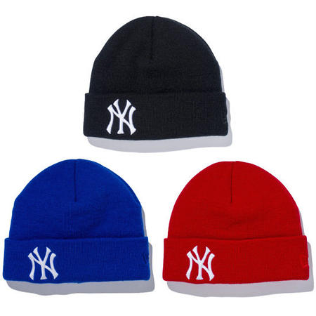 【 NEW ERA KID'S/ ニューエラ キッズ 】 Basic Cuff Knit NEW YORK YANKEES