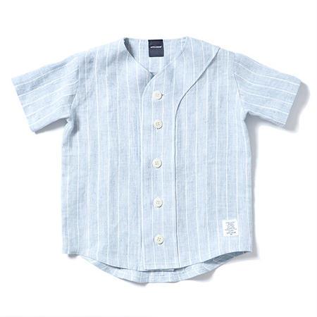 【 APPLEBUM / アップルバム キッズ 】リネンベースボールシャツ