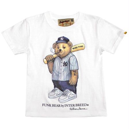 【INTERBREED / インターブリード 】FUNK BEAR Yankees Bear KID'S Tee
