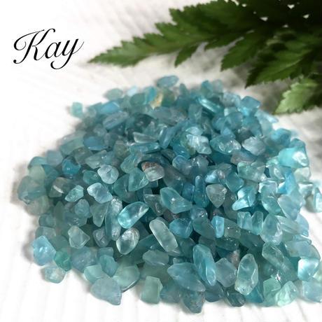 絆★高品質★ガラスのような天然アパタイト 穴なし さざれ石  50g  天然石