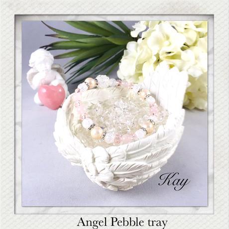 天使の羽皿 ★さざれ石受け皿 パワーストーン 浄化用