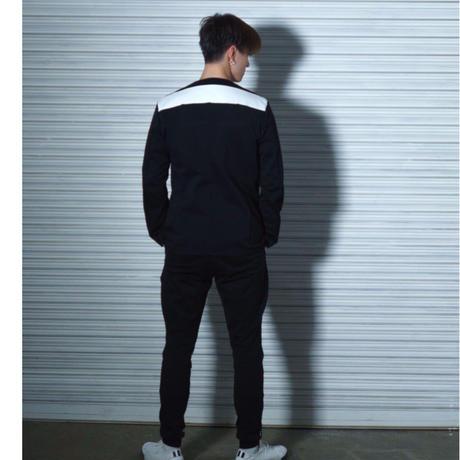 No Collar Jacket (BLACK×WHITE)
