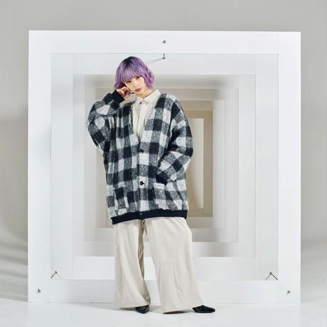 BOX checked cardigan