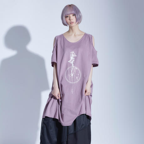 「melt girl」0658 open shoulder long T-shirts / 4color