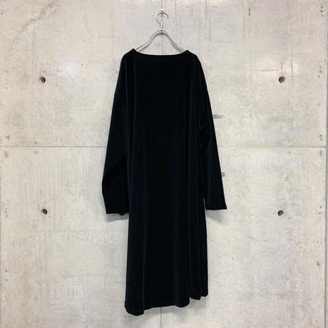 Lio velour T-one-piace / black