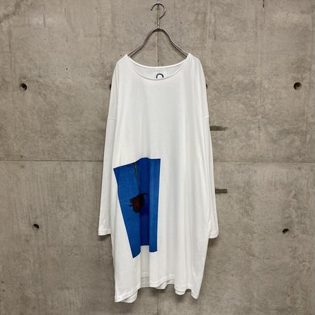 Dirty rose long T-shirt  / 2color