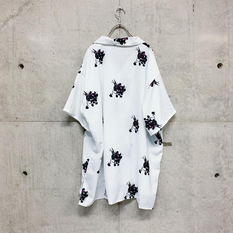 Night flower open collar shirt / 2color