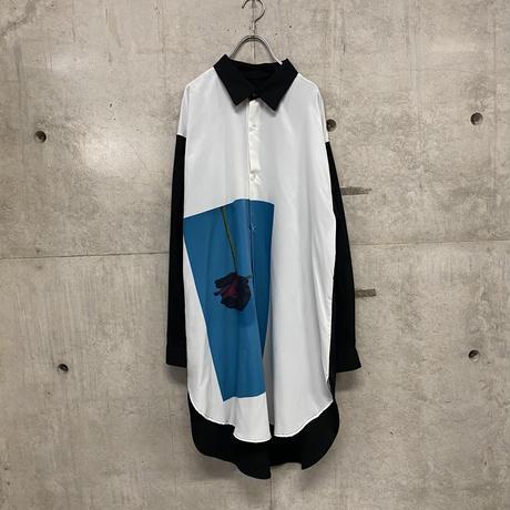 Dirty rose long shirt  / 2color