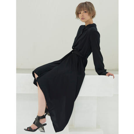 iris dress one-piece / Black