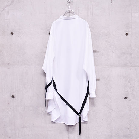 Estelle gimmick long shirt / White