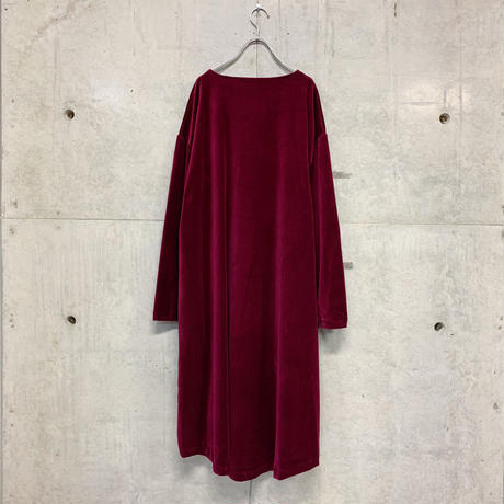 Lio velour T-one-piace / red