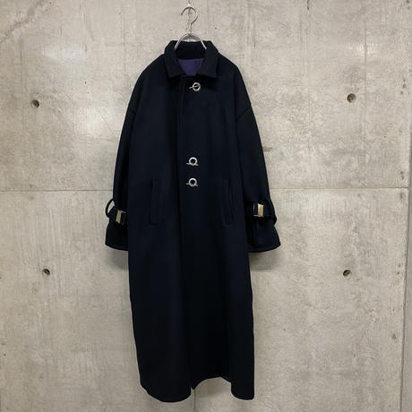 Black melton heavy over coat