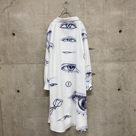 目 overall pattern shirt one-piece