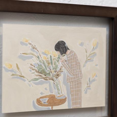 ototoi 額付原画 pray (祈る)