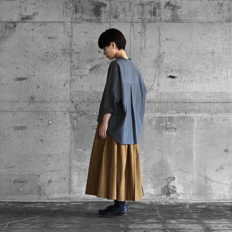 綿ウールタイプライタークロススキッパープルオーバ(ブルーグレー)【レディス】U611