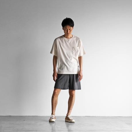 HUIS×yohakuペチパンツ兼ハーフパンツ(チャコールグレー)【ユニセックス】