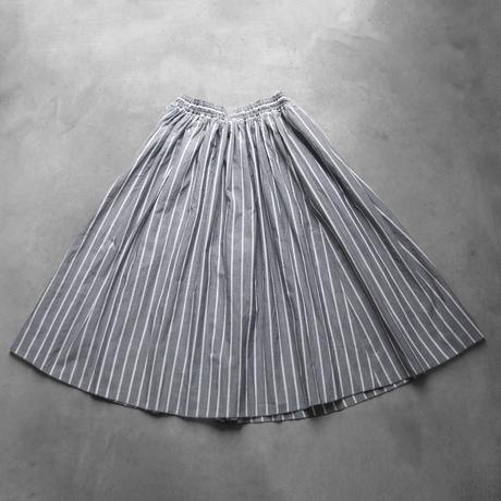 ゆるふわコットンスカート(グレーストライプ)【レディス】U401