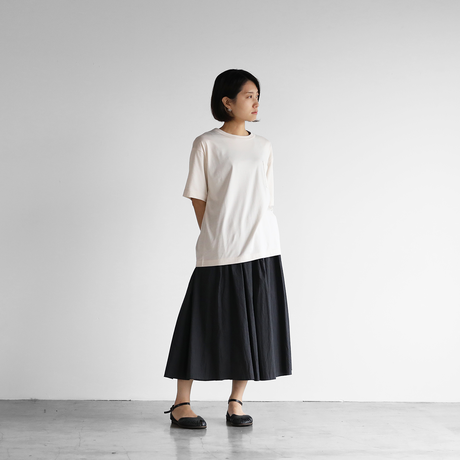 [HUIS in house]SUVIN COTTONゆるTシャツ(ivory)【ユニセックス】CS102