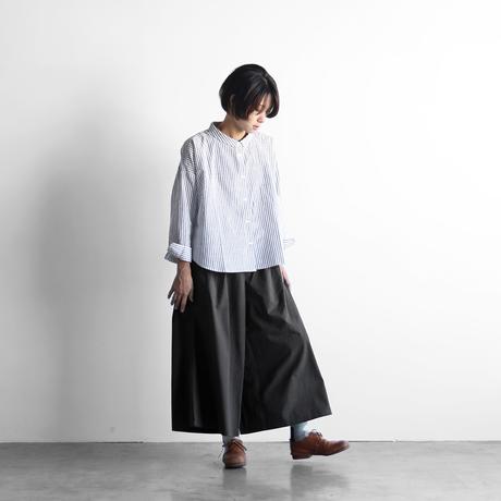 やわらかコットンスカートパンツ(ダークグレー)【レディス】U505