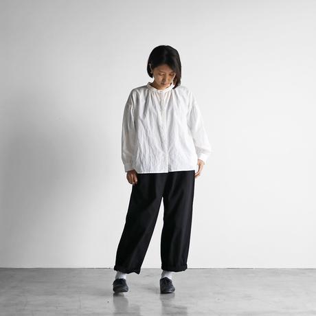 コットンリネンバルーンスリーブワイドブラウス(白)【レディス】U106