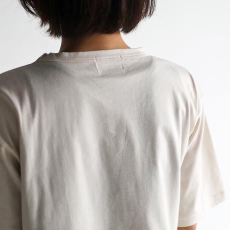 [HUIS in house]SUVIN COTTON5分袖カットソー(ivory)【ユニセックス】CS101