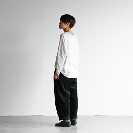 シャトルコーデュロイワイドパンツ(太畝・ブラック)【ユニセックス】504