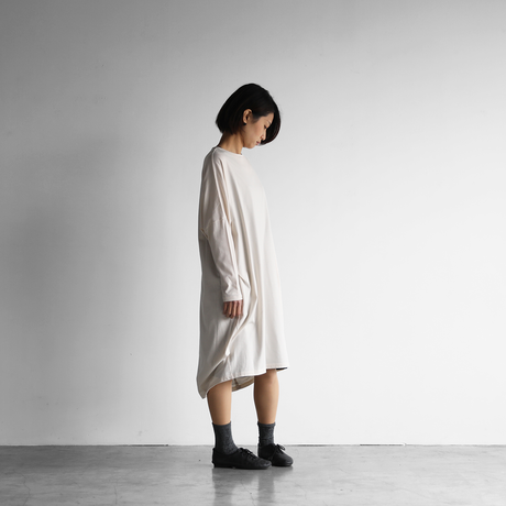 [HUIS in house]SUVIN COTTON長袖コクーンワンピース(ivory)【レディス】CS301
