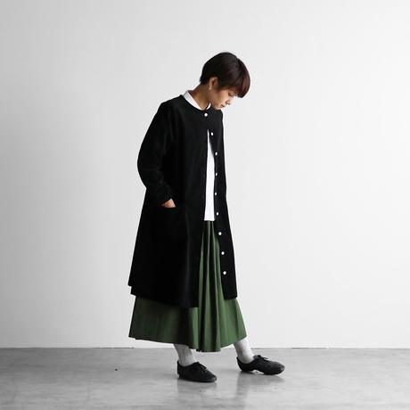 シャトルコーデュロイワンピース(太畝・ブラック)【レディス】U203
