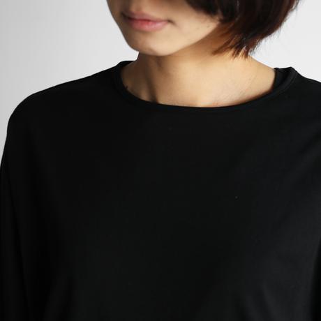 [HUIS in house]SUVIN COTTON長袖コクーンカットソー(kuro)【レディス】CS202