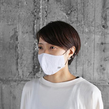 HUISマスク(コードレーン白&コットンリネン)【ユニセックス】