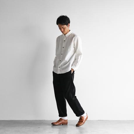 シャトルコーデュロイイージーワークパンツ(太畝・ブラック)【ユニセックス】 507