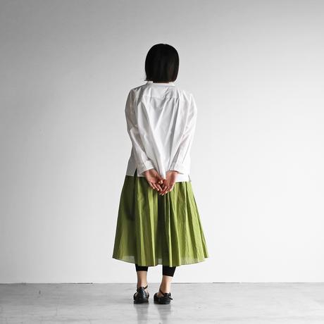 ゆるふわコットンスカート(リーフグリーン)【レディス】U401