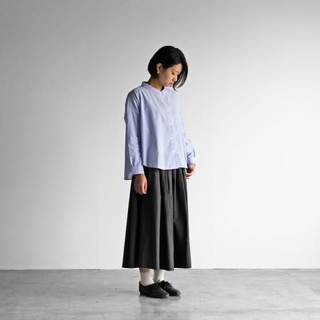 コードレーンワイドブラウス(細ブルーストライプ)【レディス】U102