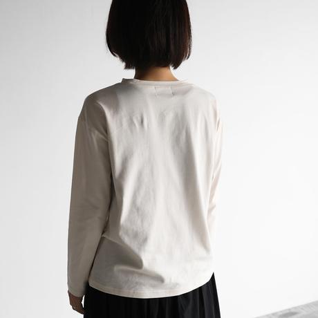 [HUIS in house]SUVIN COTTON長袖カットソー(ivory)【ユニセックス】CS201