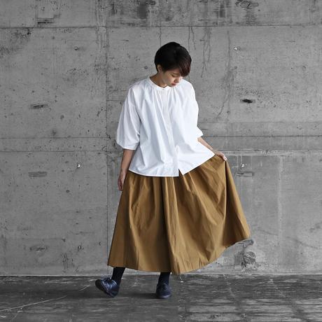 ダウンプルーフコットンロングスカート(キャラメルブラウン)【レディス】U402