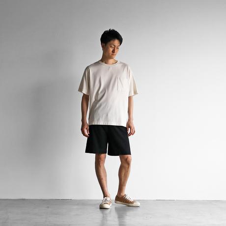 HUIS×yohakuペチパンツ兼ハーフパンツ(ブラック)【ユニセックス】