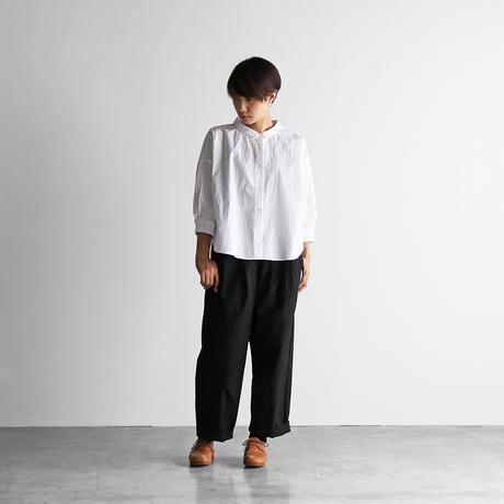 8分袖コードレーンワイドブラウス(白)【レディス】U108