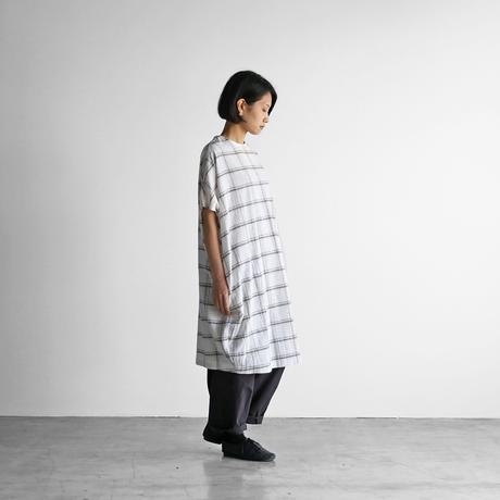 レピアブロックチェックコクーンワンピース【レディス】U207
