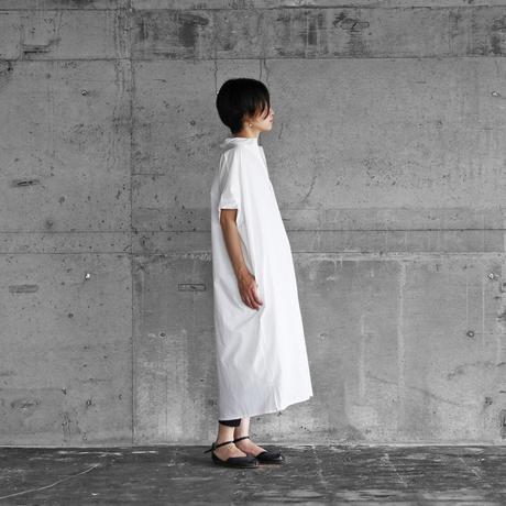 タイプライタークロスショートスリーブロングシャツ(白)【ユニセックス】014