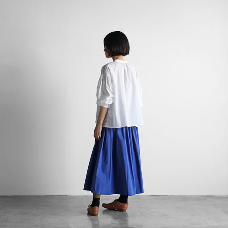 オーガニックコットンロングスカート(マリンブルー)【レディス】U402