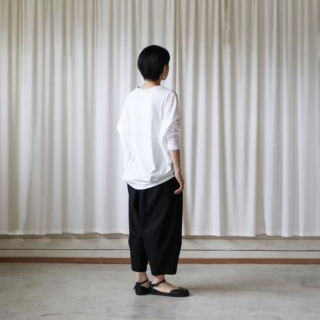 [HUIS in house]SUVIN COTTON長袖コクーンカットソー(siro)【レディス】CS202