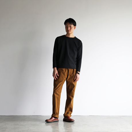 [HUIS in house]SUVIN COTTON長袖カットソー(kuro)【ユニセックス】CS201