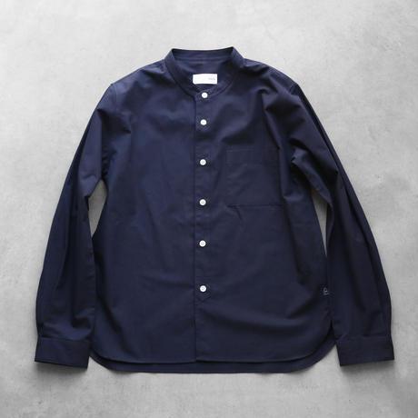 やわらかコットンバンドカラーコットンシャツNV【ユニセックス】