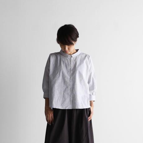 8分袖コードレーンワイドブラウス(トップ糸グレーストライプ)【レディス】U108
