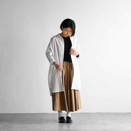タイプライタークロスロングシャツ(白)【ユニセックス】004