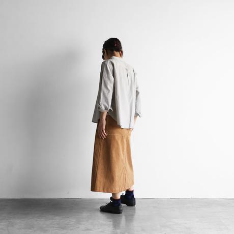シャトルコーデュロイプレーンスカート(ブラウン)【レディス】