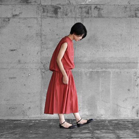 ゆるふわコットンフレンチスリーブコクーンブラウス(スカーレット)【レディス】U107