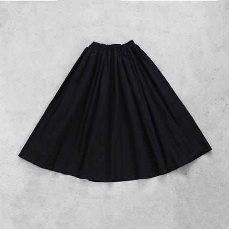 やわらかコットンロングスカート(ブラック)【レディス】U402