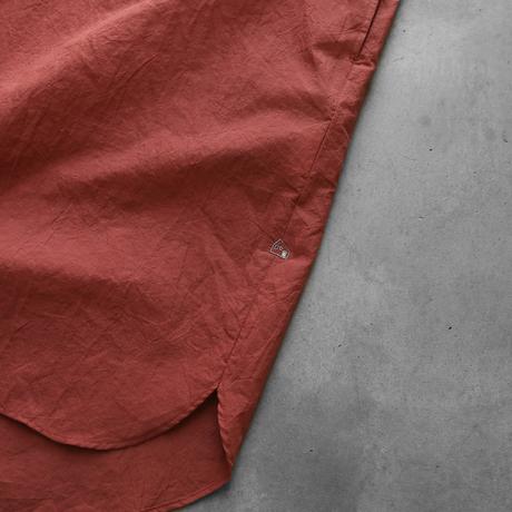 ゆるふわコットンロングシャツ(スカーレット)【ユニセックス】004